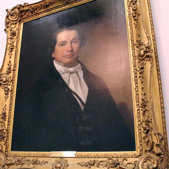 A portrait of James Boyce, the first president of Southern Baptist Theological Seminary, hangs in the president's office in Louisville, Ky. RNS photo by Adelle M. Banks