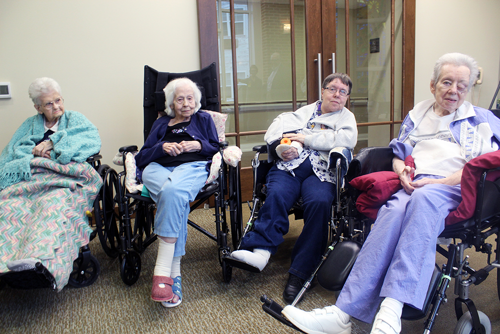 residents in a skilled nursing center