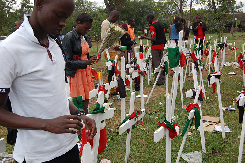 Kenya youth light candles