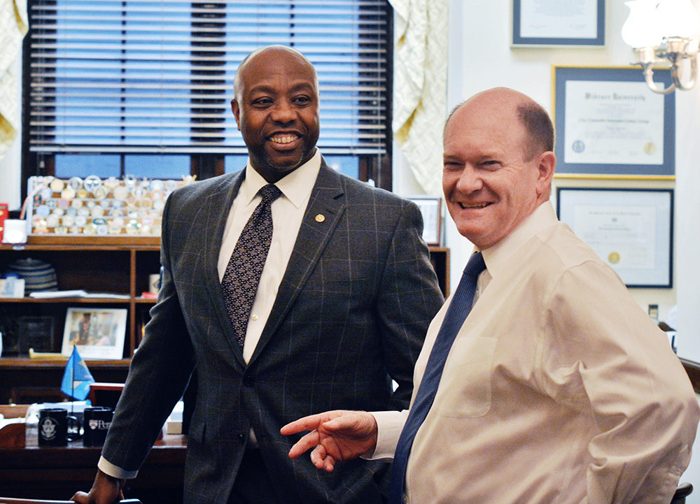 Tim Scott and Chris Coons