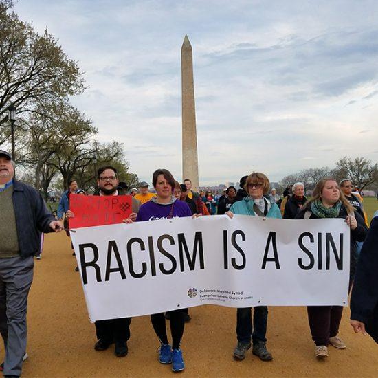 anti-racist banner