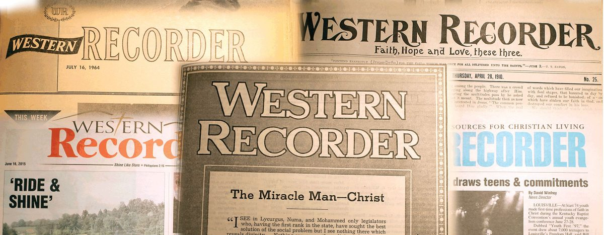 Western Recorder collage