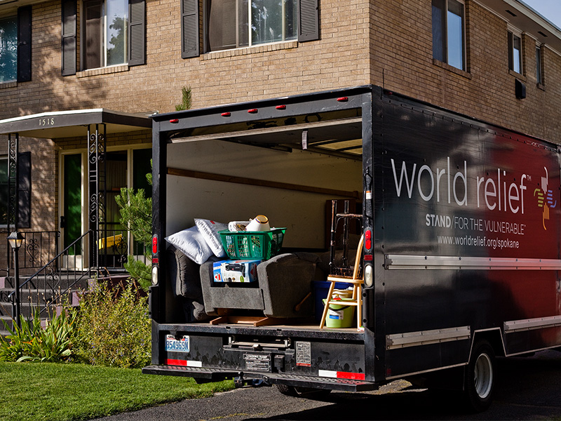 World Relief moving truck