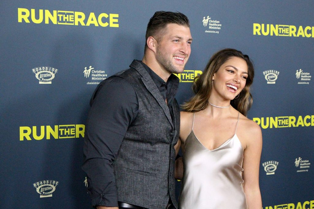 Tim Tebow and his wife Demi-Leigh Nel-Peters