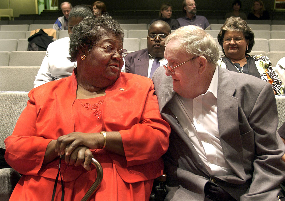 Ann Atwater, left, and C.P. Ellis