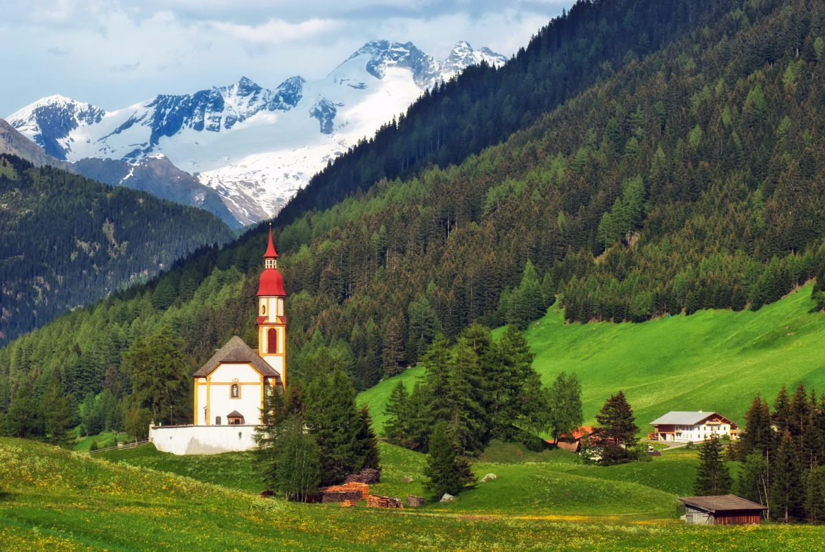 church in the Austrian countryside