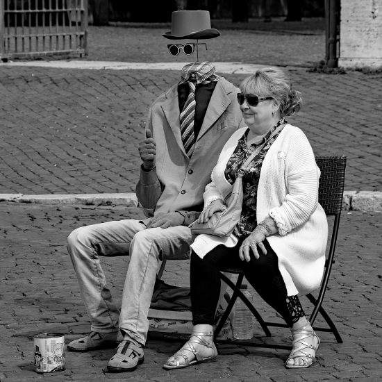 woman and invisible man