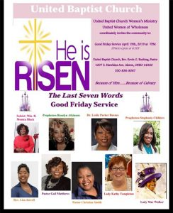"""He is Risen"" flyer"
