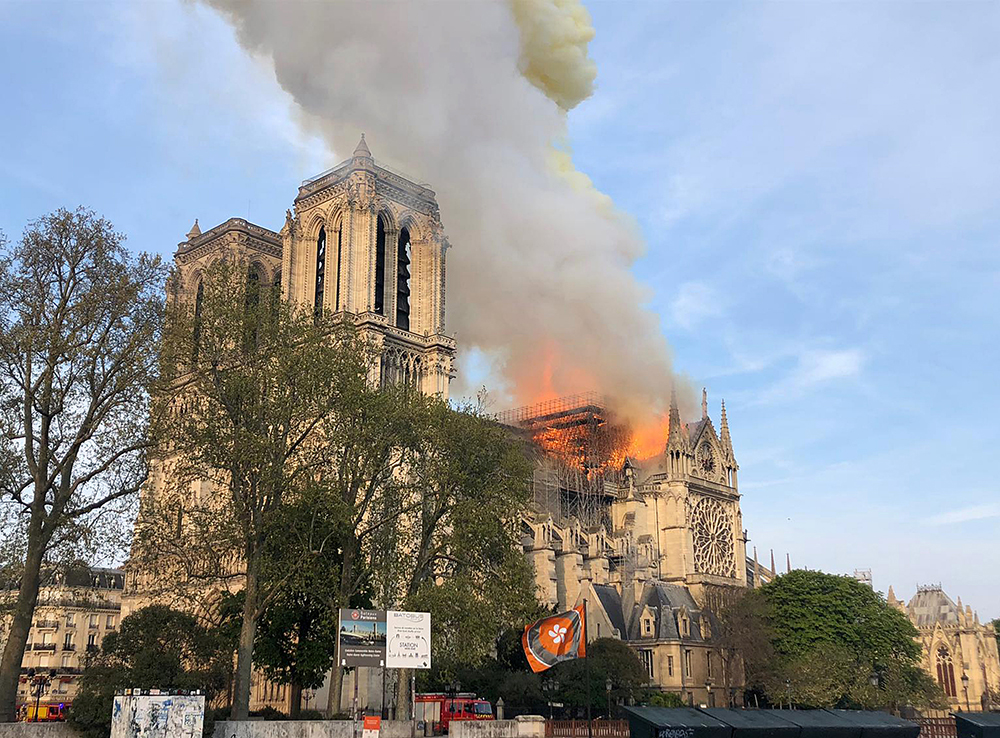 Notre Dame Cathedral in Paris Ravaged by Fire - Word&Way