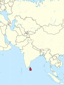 Sri Lanka on map