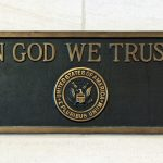 In God We Trust plaque