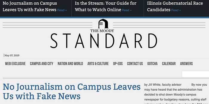 Moody Bible Institute to Stop Publishing Student Paper