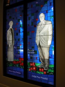 Paul Pressler in stained glass