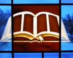 Bible in stained glass