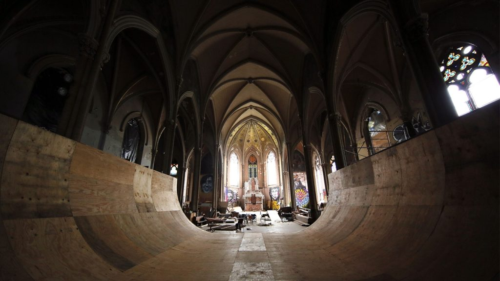 halfpipe in former church