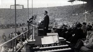 Billy Graham at crusade