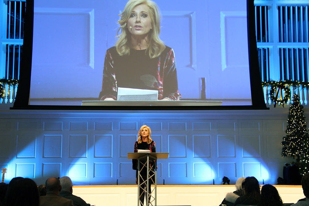 Beth Moore addresses summit