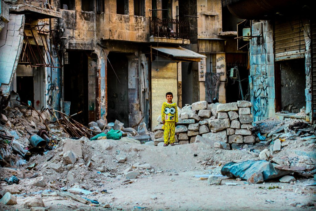 Young boy in Syria