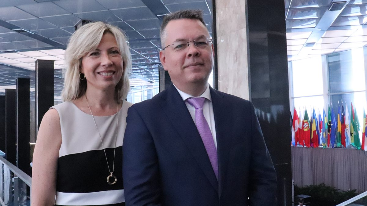Norine and Andrew Brunson