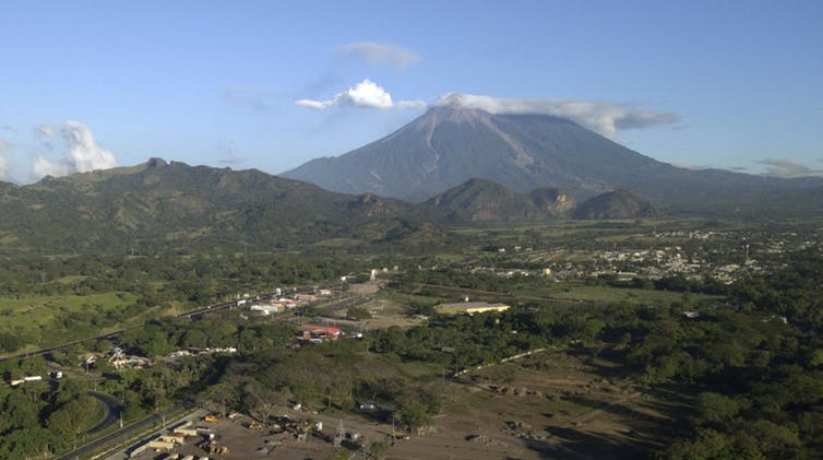 Guatemala's Fuego Volcano and surrounding villages