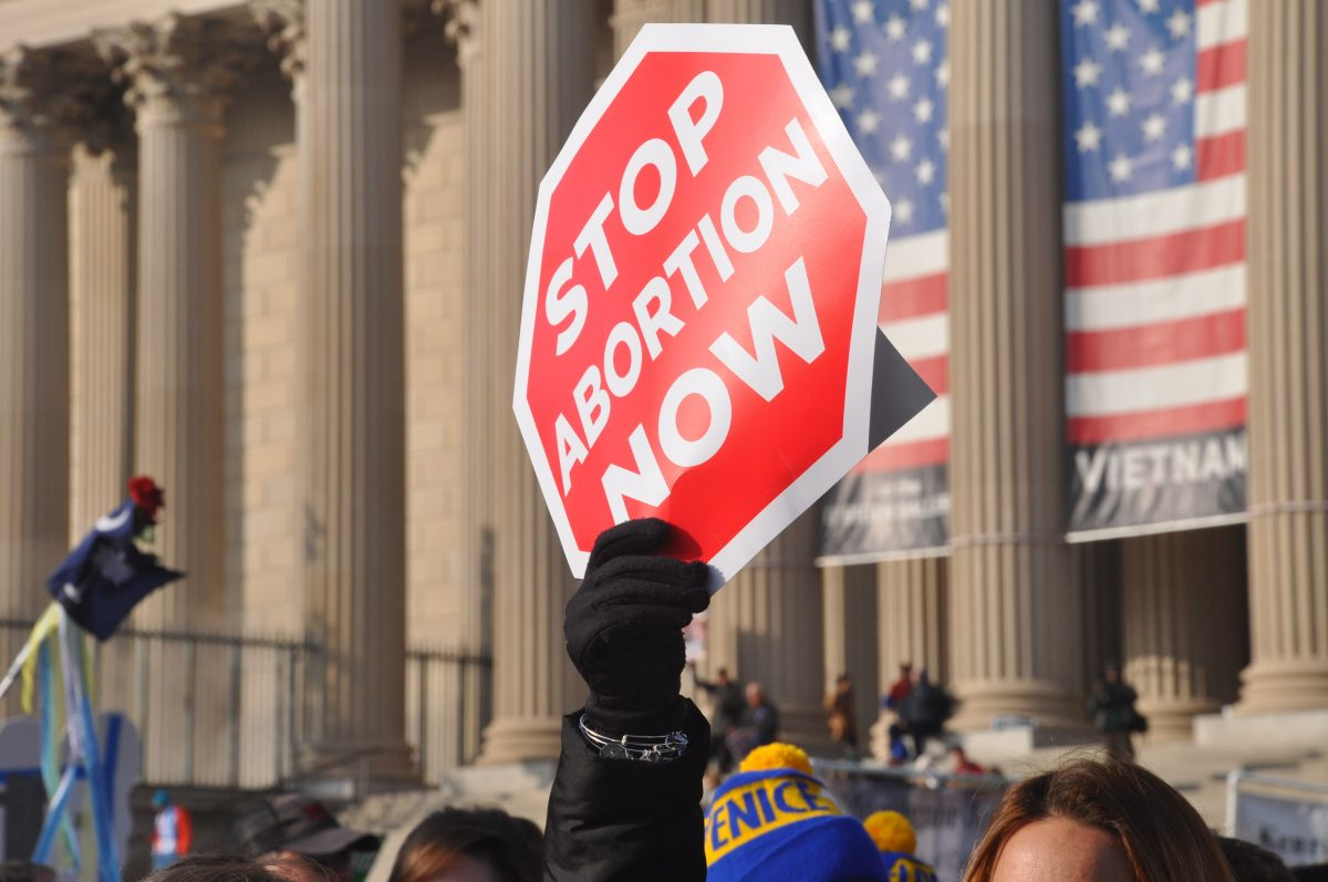 stop abortion sign