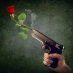 gun and flower