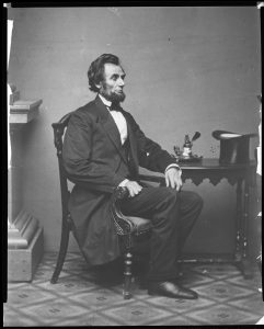 Abraham Lincoln seated