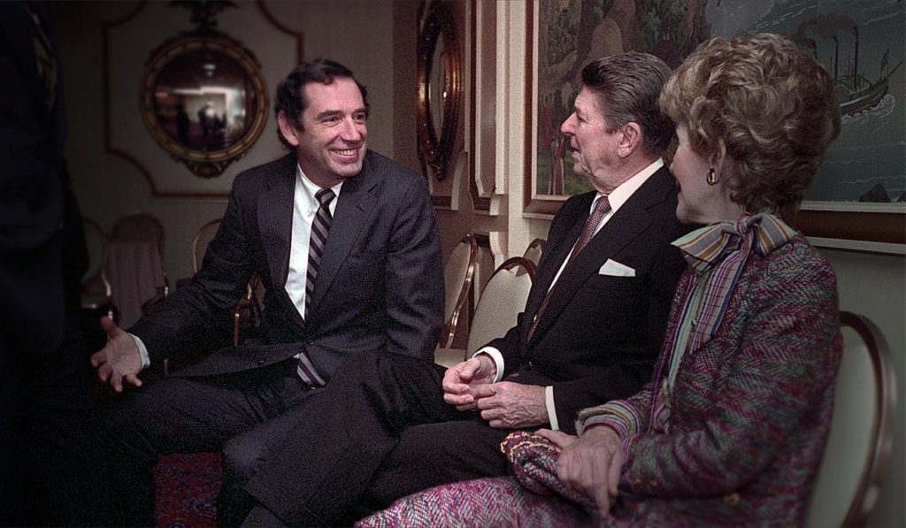 Doug Coe meets with the Reagans