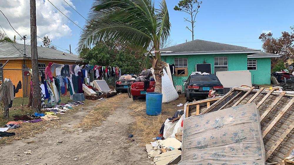 Hurricane Dorian devestation
