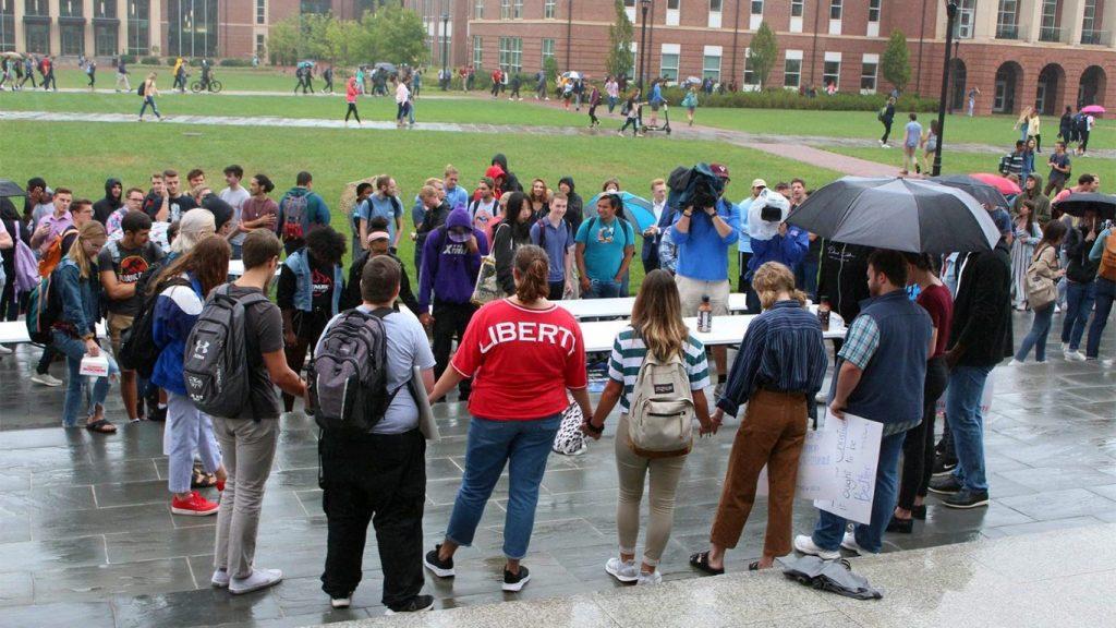 circle of Liberty U. students
