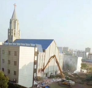 Christian church demolition in China