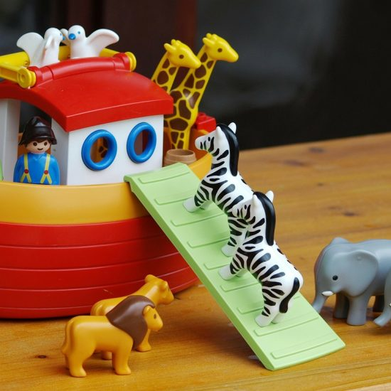 toy ark and animals