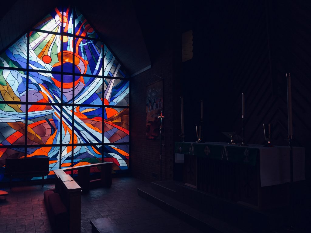 stained glass and darkness