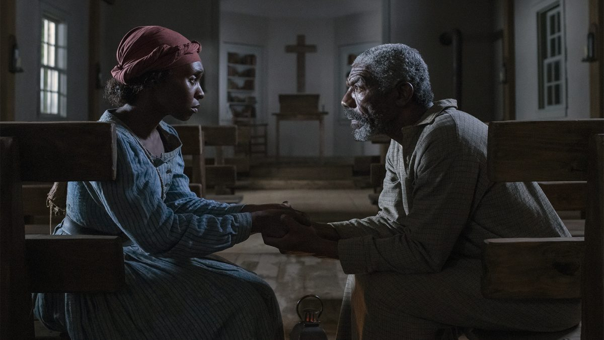 Cynthia Erivo stars as Harriet Tubman and Vondie Curtis-Hall as Reverend Green