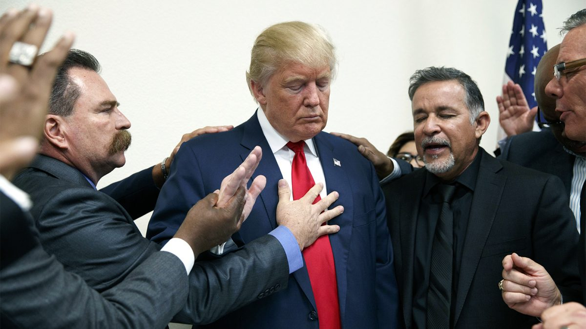 pastors pray with President Trump