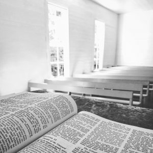 Bible in church