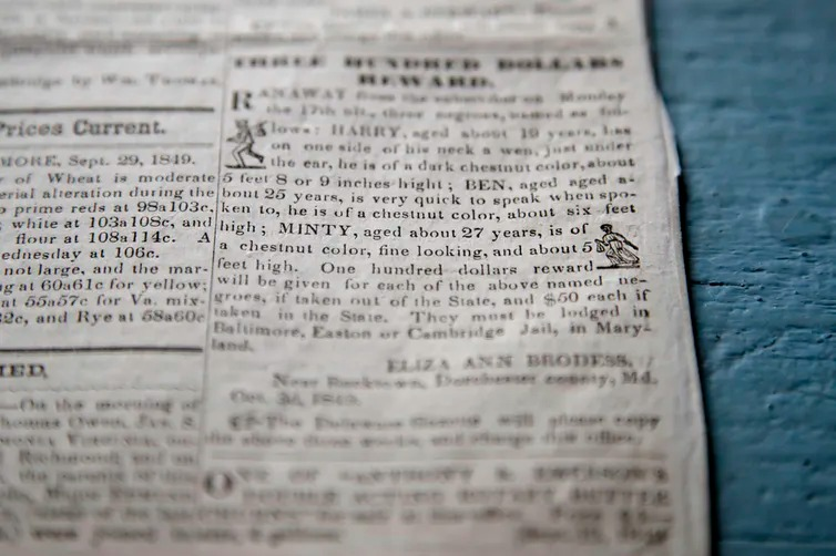 runaway slave newspaper notice