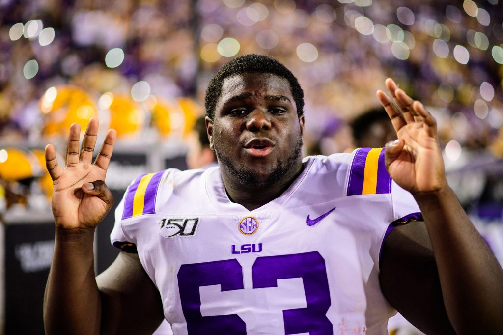 LSU backup offensive lineman Michael Smith