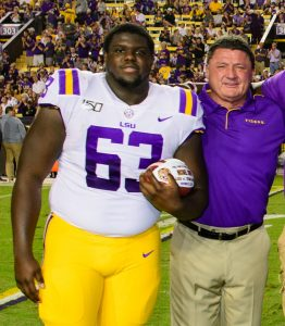 Michael Smith LSU head coach Ed Orgeron