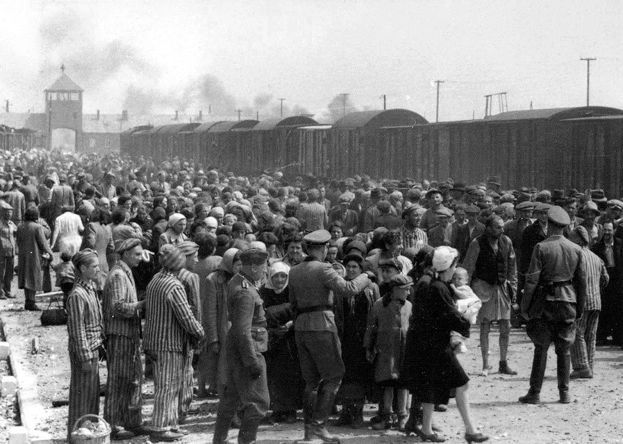 Hungarian Jews at Auschwitz