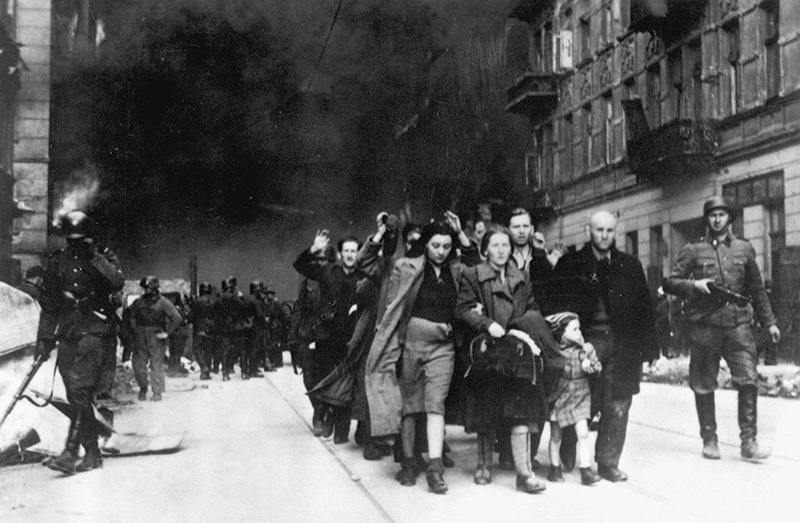 Jewish civilians led by Nazis