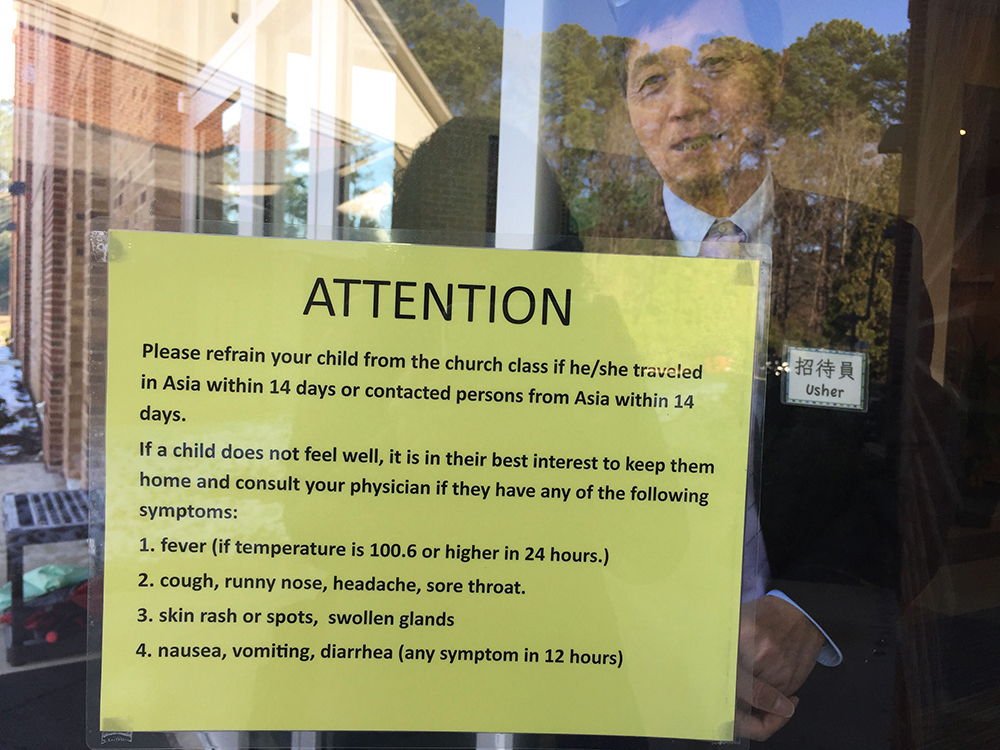 Sign outside the Raleigh Chinese Christian Church