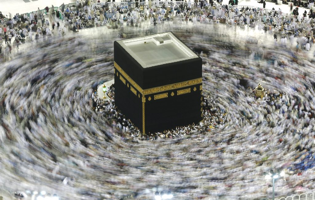 Slow shutter speed at Kaaba