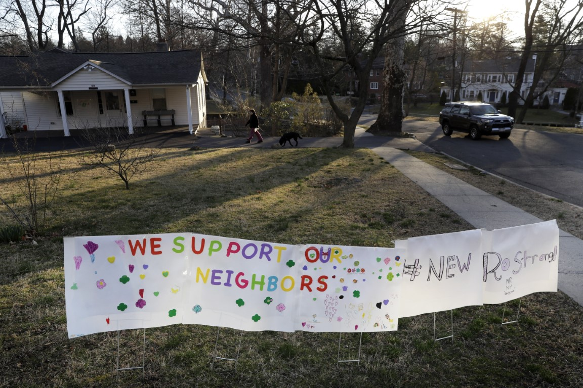 sign showing support for residents