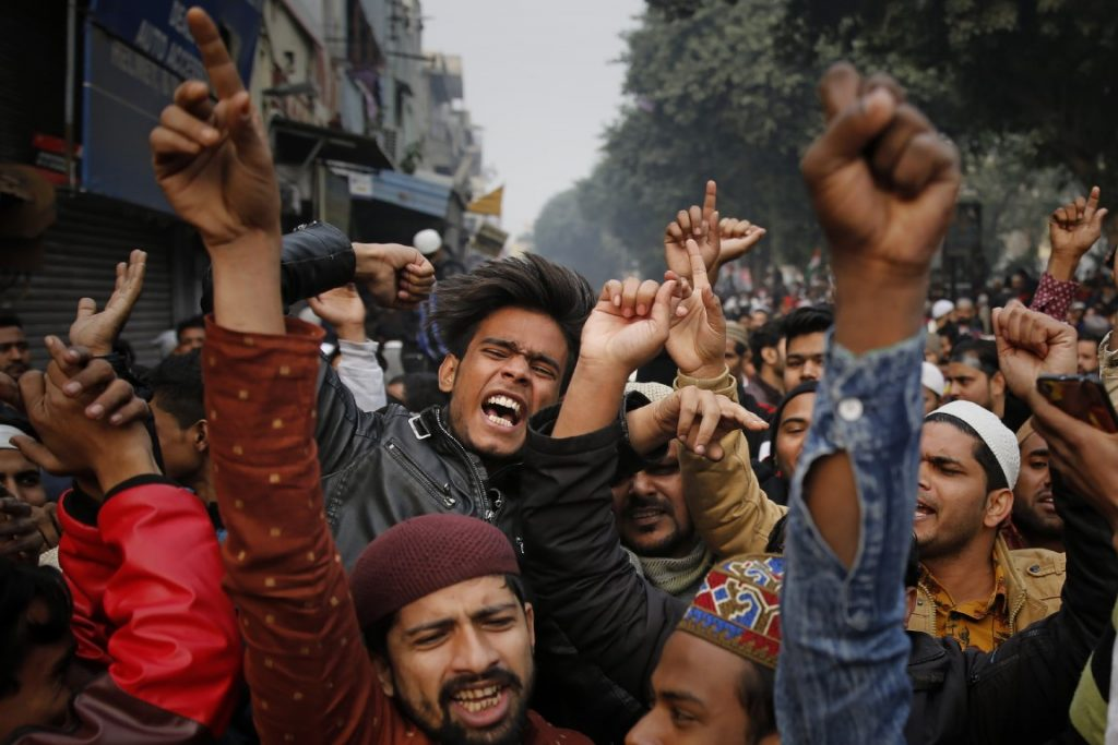 Indians protesting