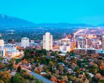 salt Lake City in the evening