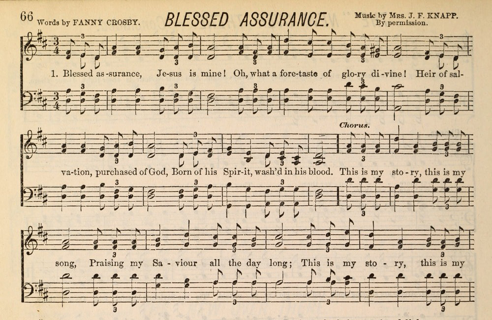 Blessed Assurance music