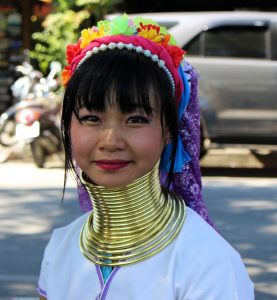 long-necked Thailand woman