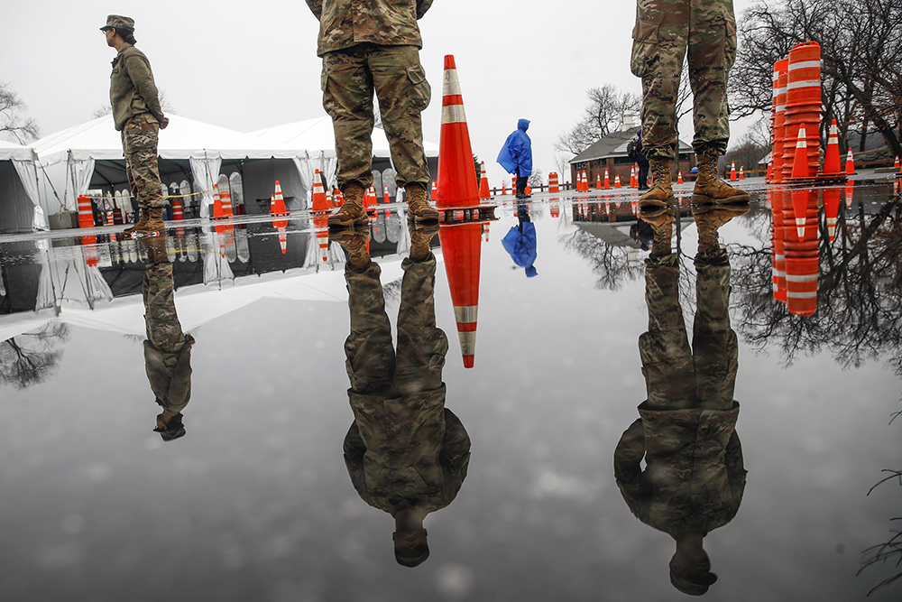 National Guard at testing facility