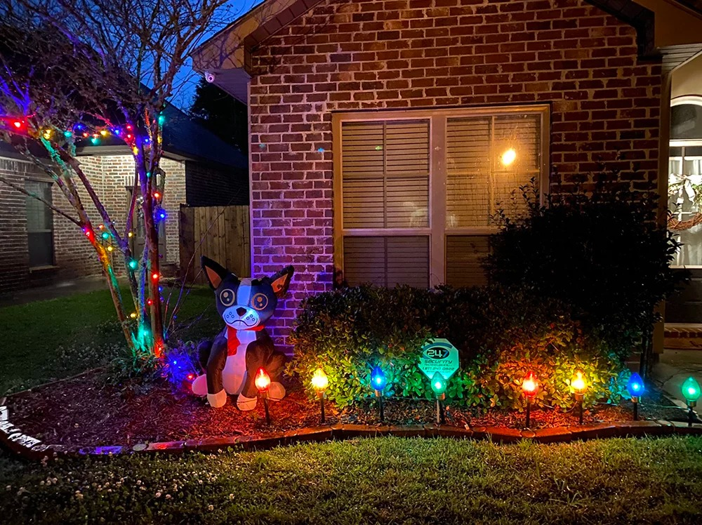 holiday lights in Louisiana
